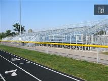 Track grandstand bleacher seating in Ashville, Ohio