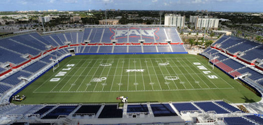 FAU Stadium grandstand & bleacher seating custom stadium project.