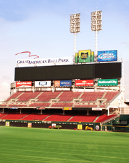 Great American Ball Park bleacher seats and aluminum bleacher seats project.