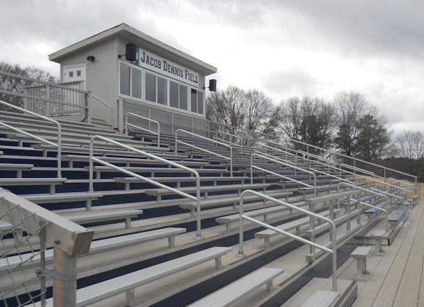 Aluminum bleachers completed by Dant Clayton at Ja
