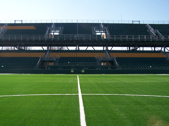 Grandstand stadium seating at Sahlen's Stadium.