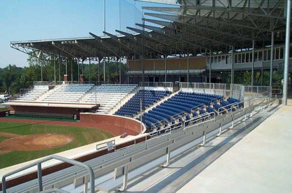 Bleacher seating installed by Dant Clayton at Dave