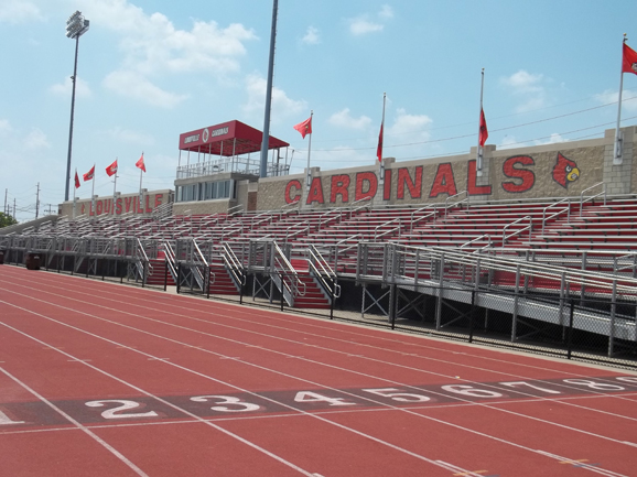 Bleacher seating and grandstand at Cardinal Park a