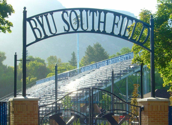 Entry gate to South Field Stadium.
