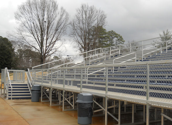 Alum-a-Stand outdoor bleachers and welded deck sys