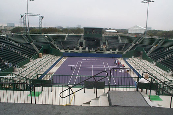 Grandstand at the Westside Tennis Center completed