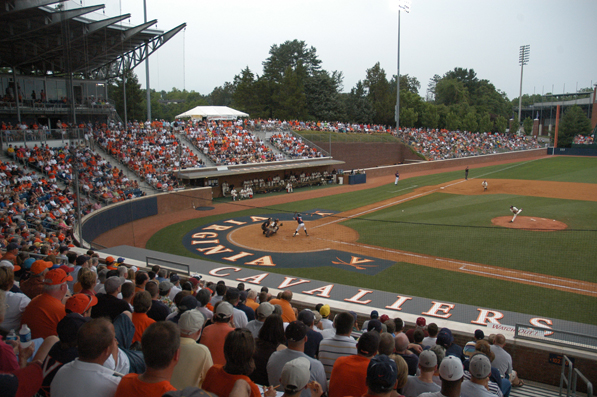 Home plate at Davenport Field at University of Virginia