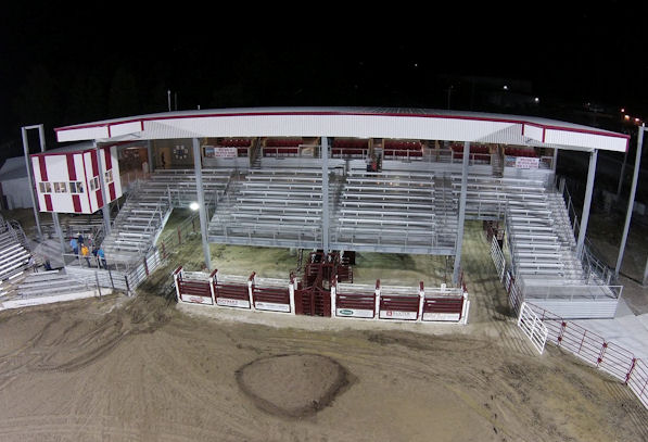 Tri-State Rodeo Bleachers in Fort Madison, IA