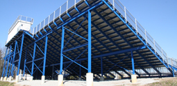 Structural Steel Finish on Bleachers