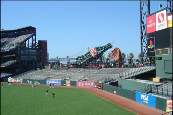 AT&T Park outfield bleacher seating installed by D
