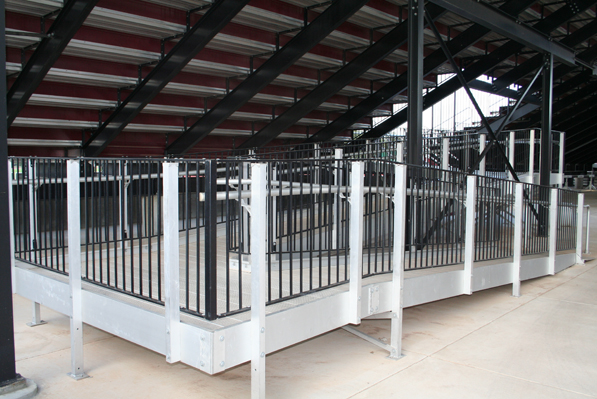 Vertical Rail System and grandstand installed by D