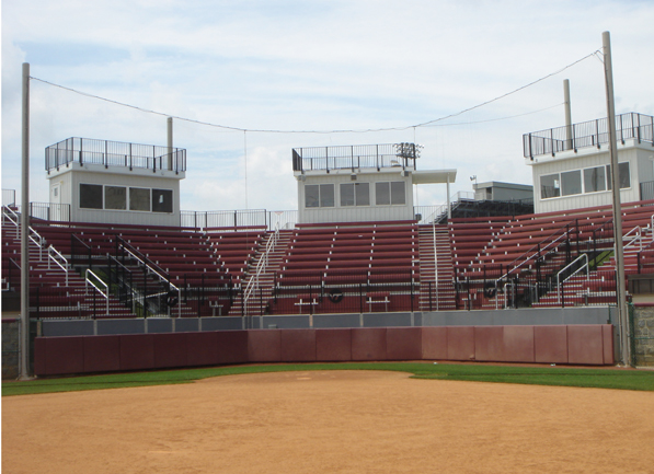 Full view of  Tech Softball Park including the alu