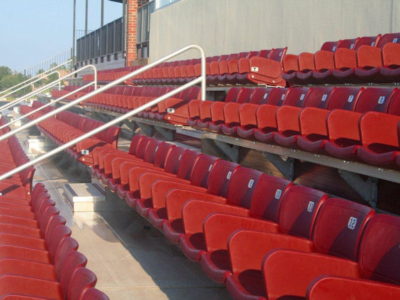 Stadium seats installed by Dant Clayton at John Cr
