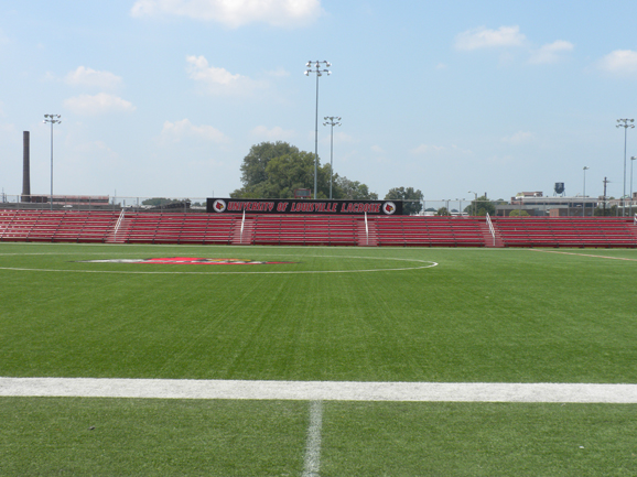 Bleacher seating at the University of Louisville L