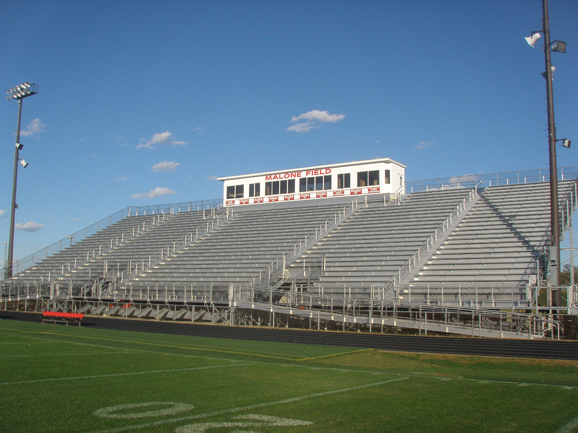 Grandstand bleachers seating at Metamora High Scho