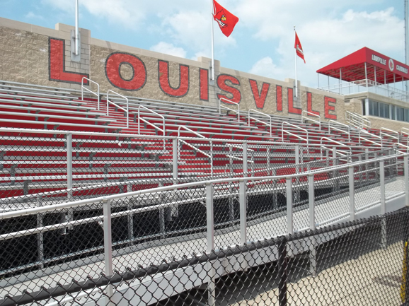 Aluminum bleachers installed by Dant Clayton at Ca