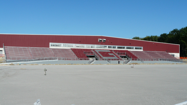 Panoramic view of the grandstand and outdoor seati