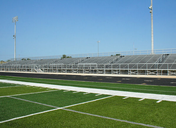 Visitor site outdoor bleachers installed by Dant C
