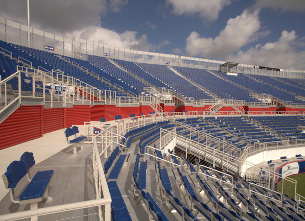 Stadium chairs installed by Dant Clayton at FAU St