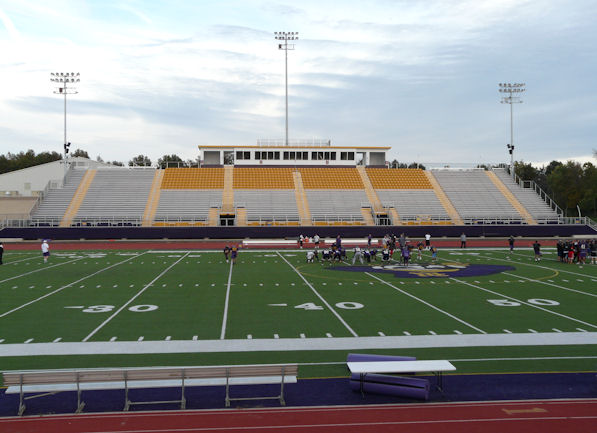 Reynoldsburg High School's football grandstand, al