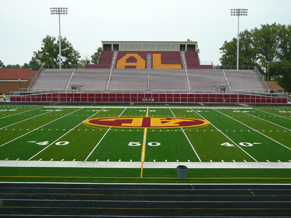 Grandstand structure at Avon Lake High School's fo