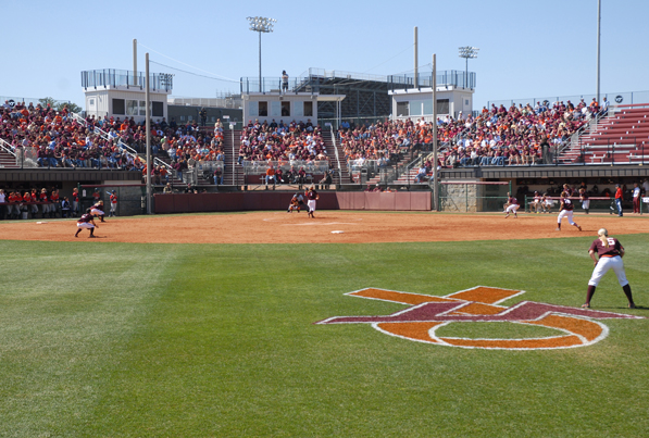 Fans watching a game at Virginia Tech University's