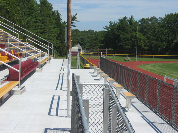 Welded deck system, part of the grandstand at Cent