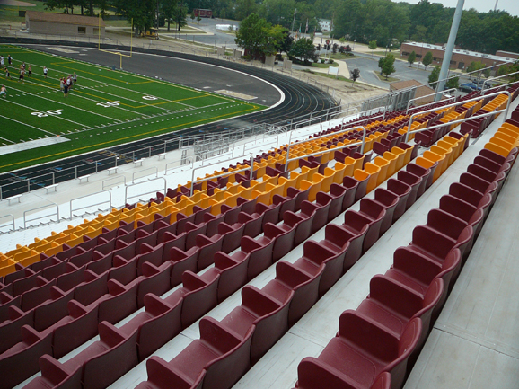 Stadium seating manufactured and installed by Dant