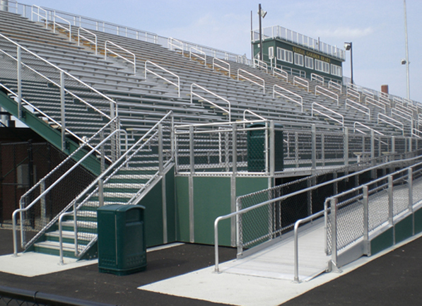 Aluminum bleachers, welded deck system and panel c