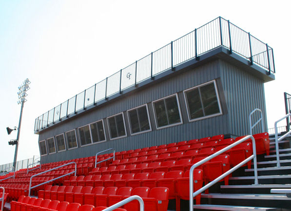 Press box completed by Dant Clayton for Cape Centr
