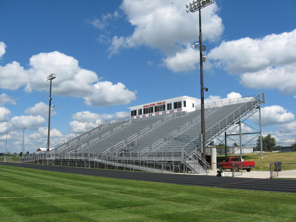 Grandstand structure at Metamora High School's foo