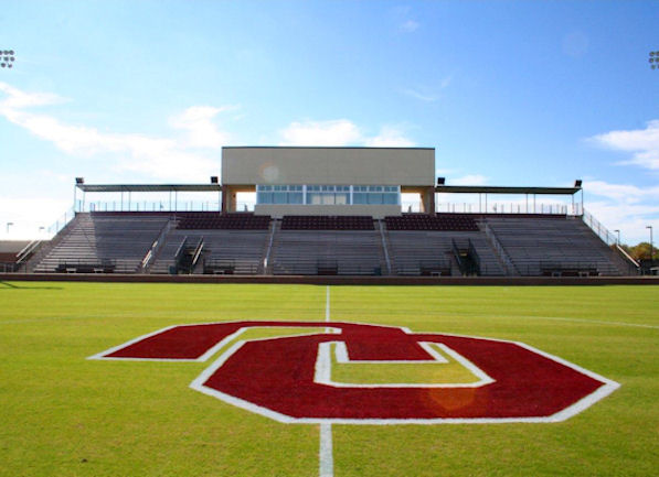 Field view of the grandstand at John Crain Field a