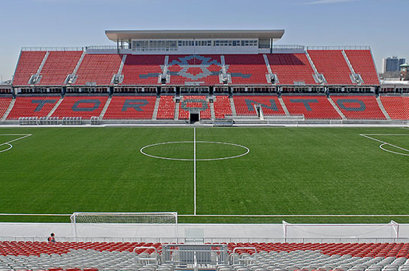 Grandstand seating at BMO field, home of the Toron