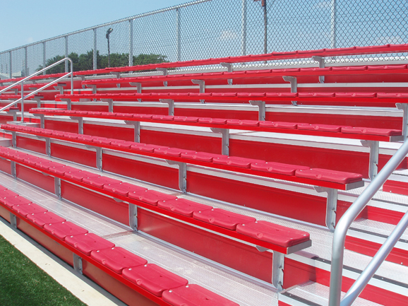 Close-up view of the bleacher seating at the Unive
