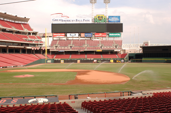 Outdoor bleachers at Great American Ball Park, hom